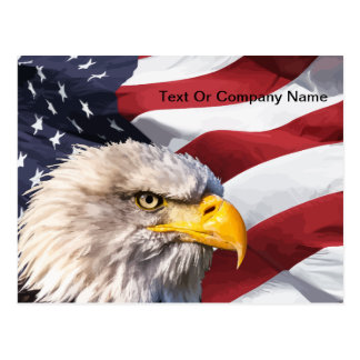 Patriotic American Eagle Post Postcard