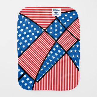 Patriotic American fireworks Baby Burp Cloth
