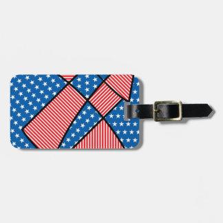 Patriotic American fireworks Bag Tag