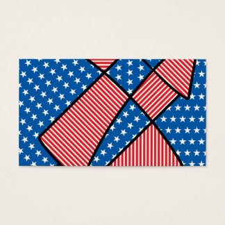 Patriotic American fireworks Business Card