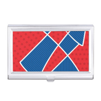 Patriotic American fireworks Business Card Case