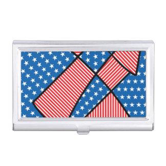 Patriotic American fireworks Business Card Holders