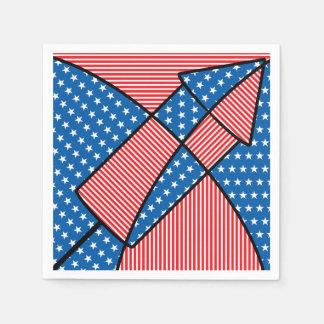 Patriotic American fireworks Disposable Napkins