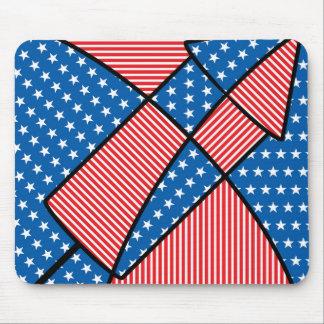 Patriotic American fireworks Mouse Pad