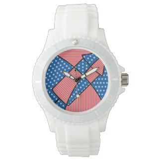 Patriotic American fireworks Wrist Watch