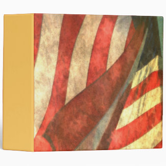 "Patriotic American Flag 2"" Binder"