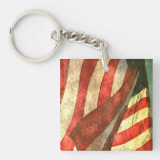Patriotic American Flag Acrylic Keychains Acrylic Keychains