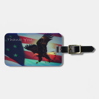 Patriotic American Flag and Eagle Tags For Bags