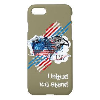 Patriotic American Flag Bald Eagle iPhone 7 cover