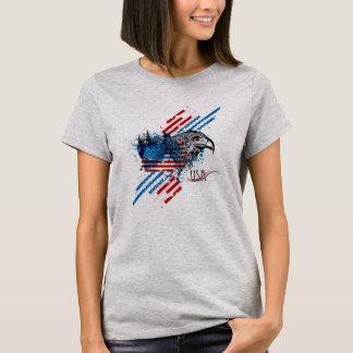 Patriotic American Flag Bald Eagle T-shirt