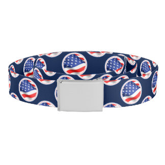 Patriotic American Flag Belt