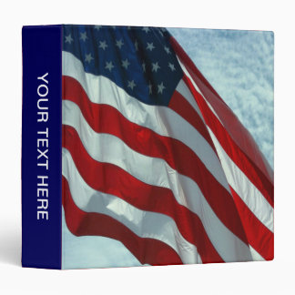 Patriotic American Flag Binders