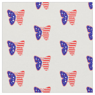 Patriotic American Flag Butterfly