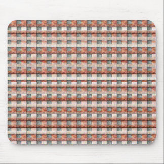 Patriotic American Flag Collage Mouse Pad