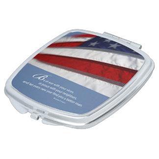 Patriotic, American Flag Compact Mirrors