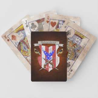Patriotic American Flag Crest Playing Cards