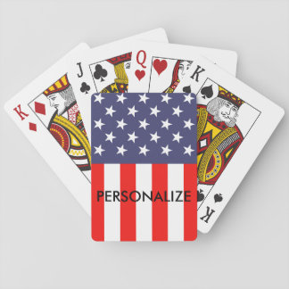 Patriotic American flag custom poker playing cards