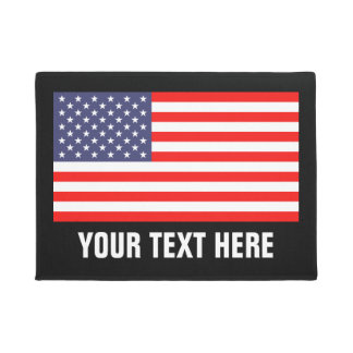 Patriotic American flag door mat for home or store