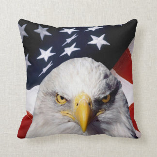 Patriotic American Flag Eagle Accent Pillows-2 Throw Pillow