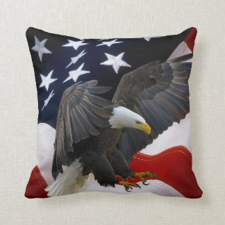 Patriotic American Flag Eagle Accent Pillows-4 Throw Pillow