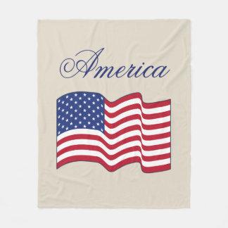 Patriotic American Flag Fleece Throw Blanket Gift