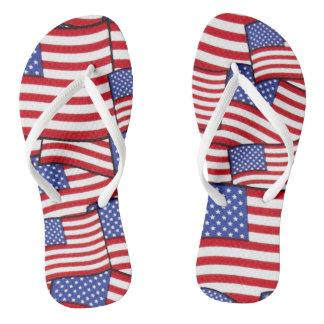 Patriotic American Flag Flip-Flops Flip Flops