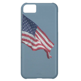 Patriotic American Flag Flying in the Wind Photo iPhone 5C Case