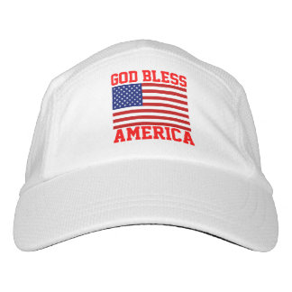 Patriotic American Flag God Bless America Headsweats Hat