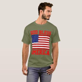 Patriotic American Flag God Bless America T-Shirt
