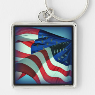 Patriotic American Flag Keychain