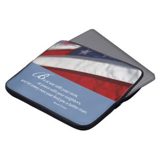 Patriotic, American Flag Laptop Sleeve