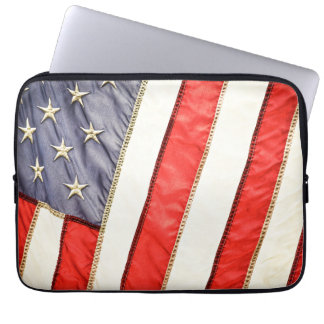 Patriotic American Flag Laptop Sleeve