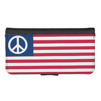 Patriotic American Flag Peace and the Flag iPhone 5 Wallets