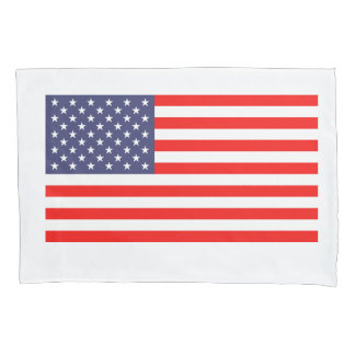 Patriotic American flag pillowcase