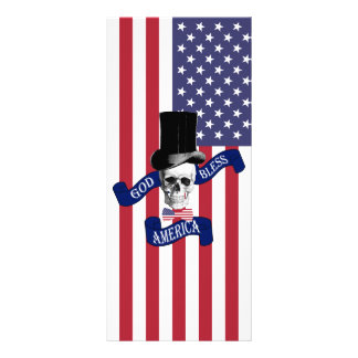 Patriotic American flag Customized Rack Card