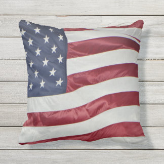 Patriotic American Flag Red White Blue  pillow