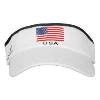 Patriotic American flag sports sun visor cap hat