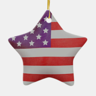 Patriotic American flag star Ceramic Star Ornament