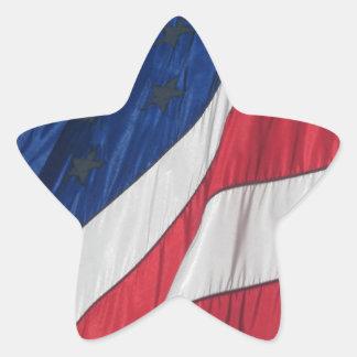 Patriotic American Flag Star Sticker