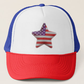 Patriotic American flag star Trucker Hat