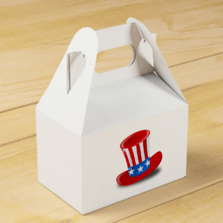 Patriotic American Flag Top Hat Favor Boxes