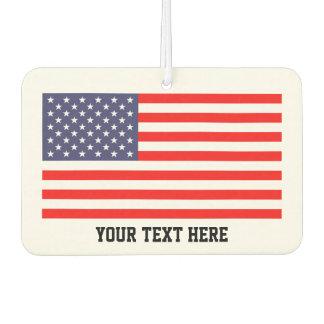 Patriotic American flag USA car air freshener