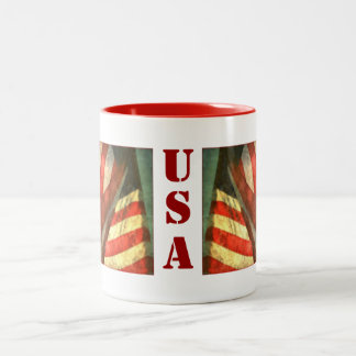Patriotic American Flag USA Mug
