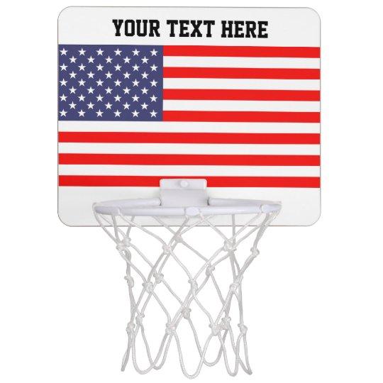 Patriotic American flag USA pride custom Mini Basketball Hoop