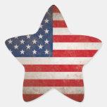 Patriotic American Flag Vintage Stars & Stripes Star Stickers