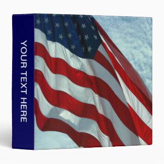 Patriotic American Flag Vinyl Binder