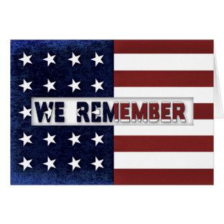 Patriotic American Flag - We Believe Card