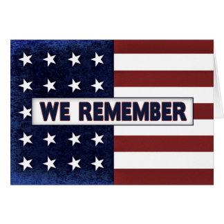 Patriotic American Flag - We Believe (Solid Text) Card