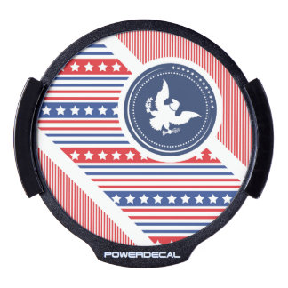 Patriotic American Flag with Eagle LED Car Decal