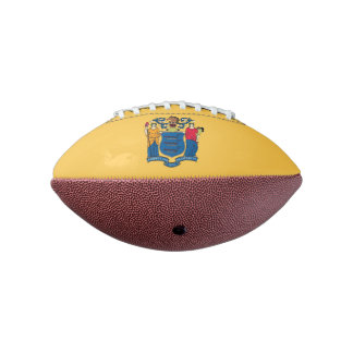 Patriotic american football  New Jersey flag